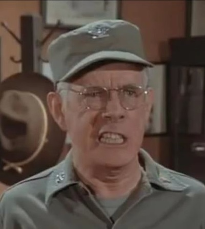 MASH actor Harry Morgan wore dentures.